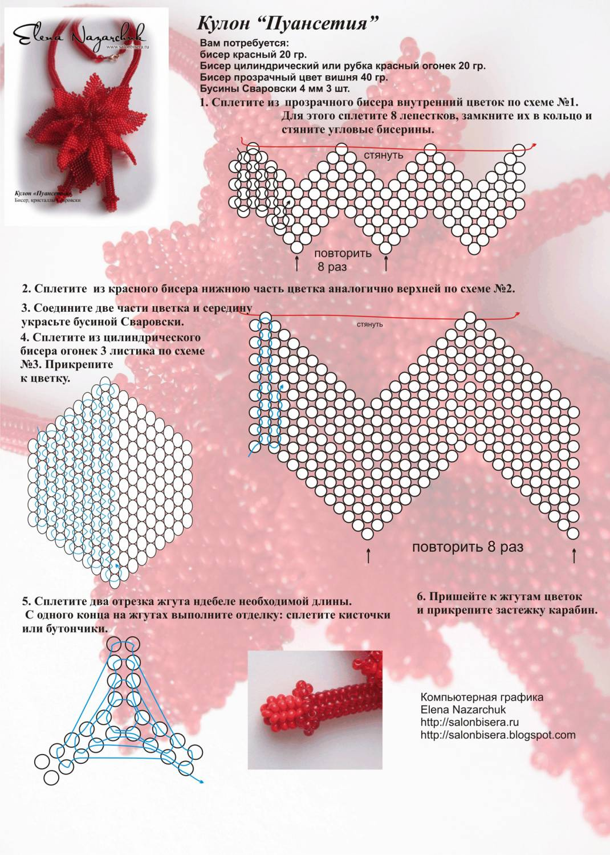 Схемы цветов из бисера в контакте